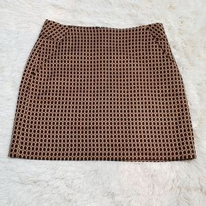 NWT LOFT shimmery bronze polka dot pencil skirt